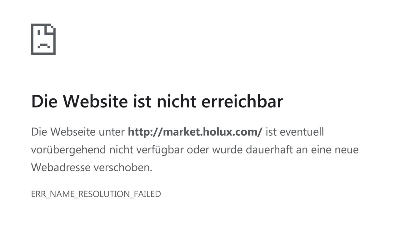 """Fehler-Screenshot: """"market.holux.com"""" nicht ereichbar"""