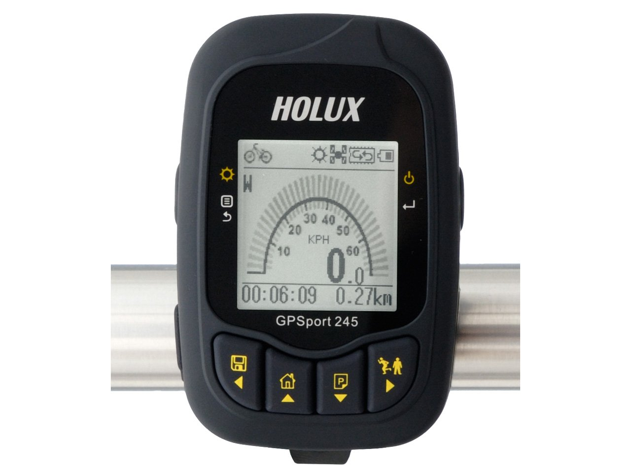 Holux GPSport 245 - am Fahrradlenker