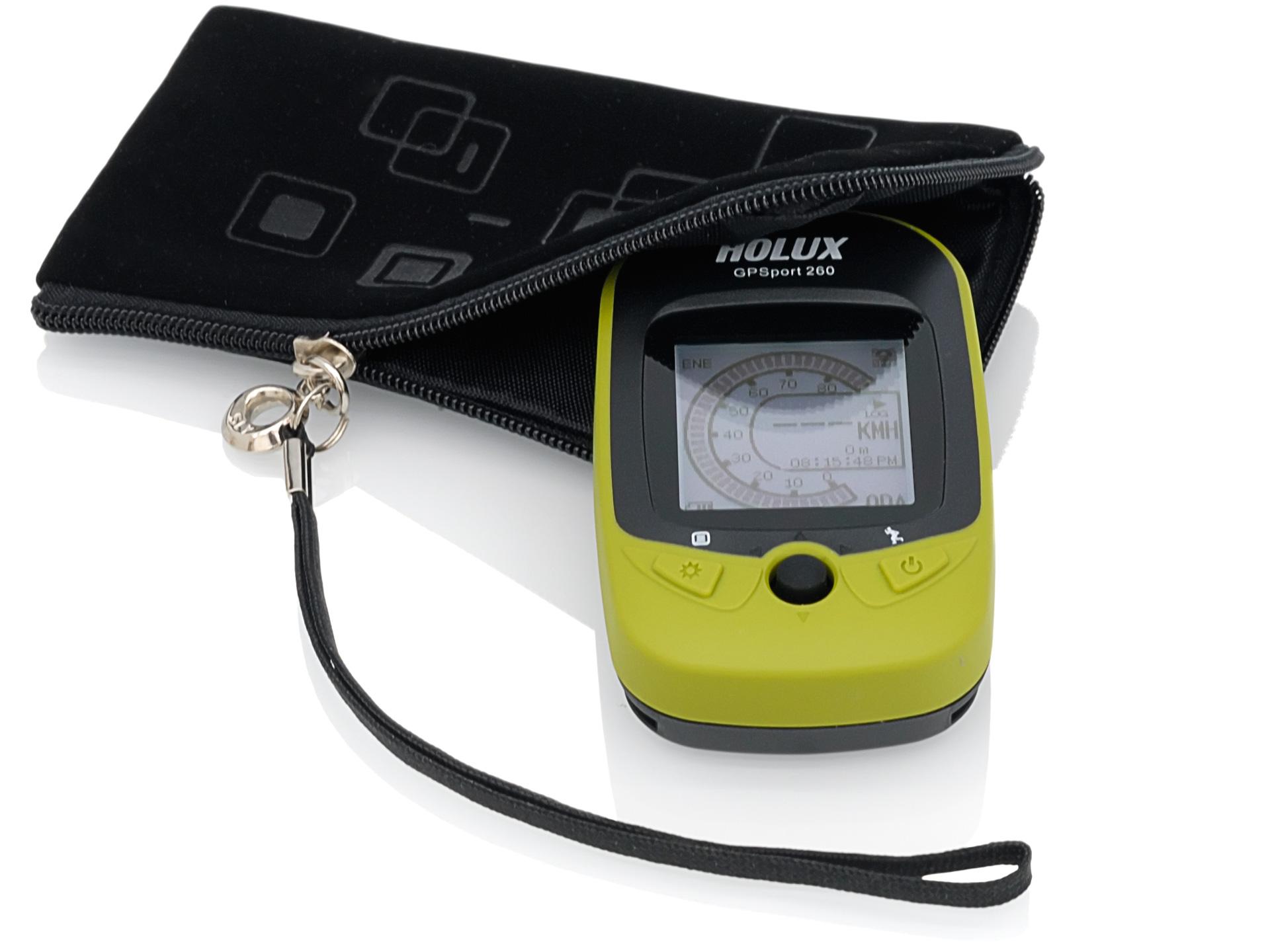 Holux GPSport 260 in einer Neopren Tasche