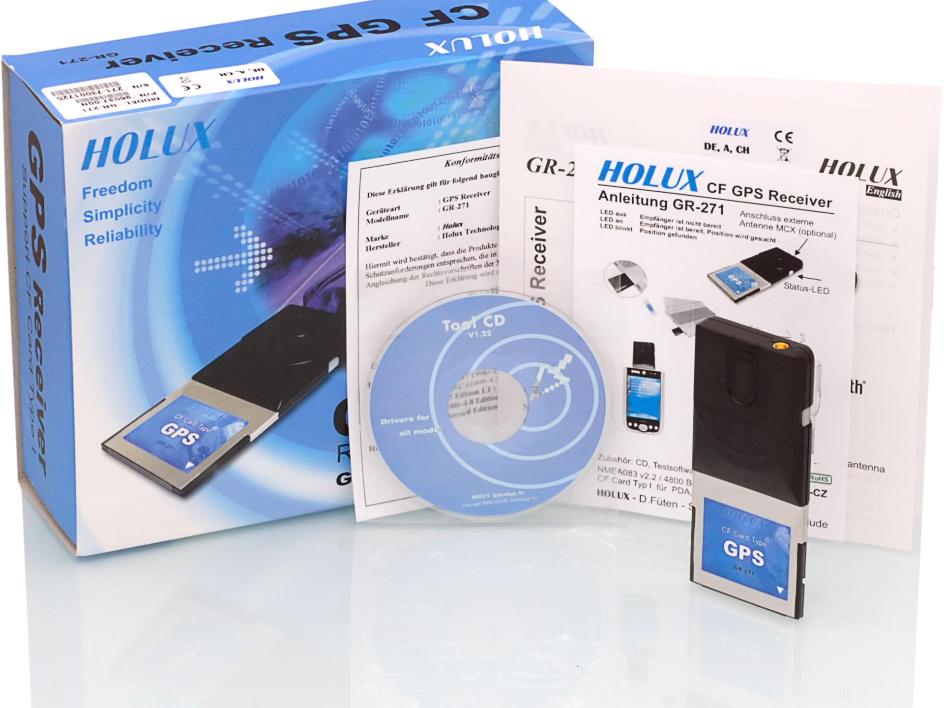 Holux GR-271 - Lieferumfang